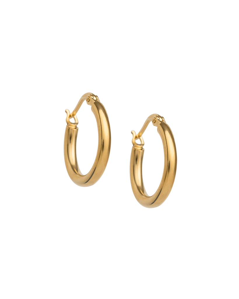 TIDAL HOOPS SMALL (18K-GOLD-PLATED)