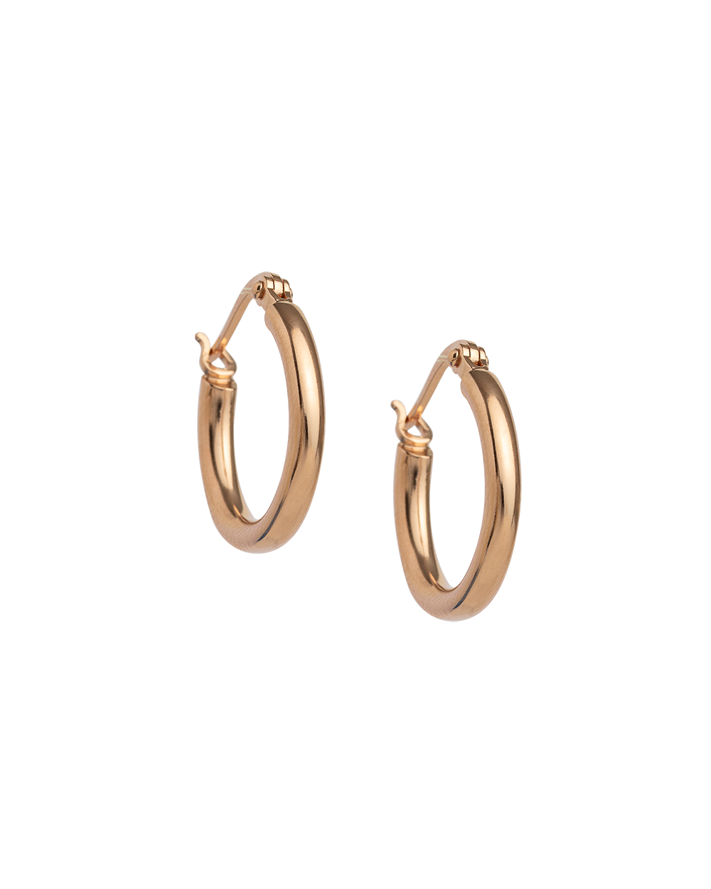 TIDAL HOOPS SMALL (18K-ROSE GOLD-PLATED)
