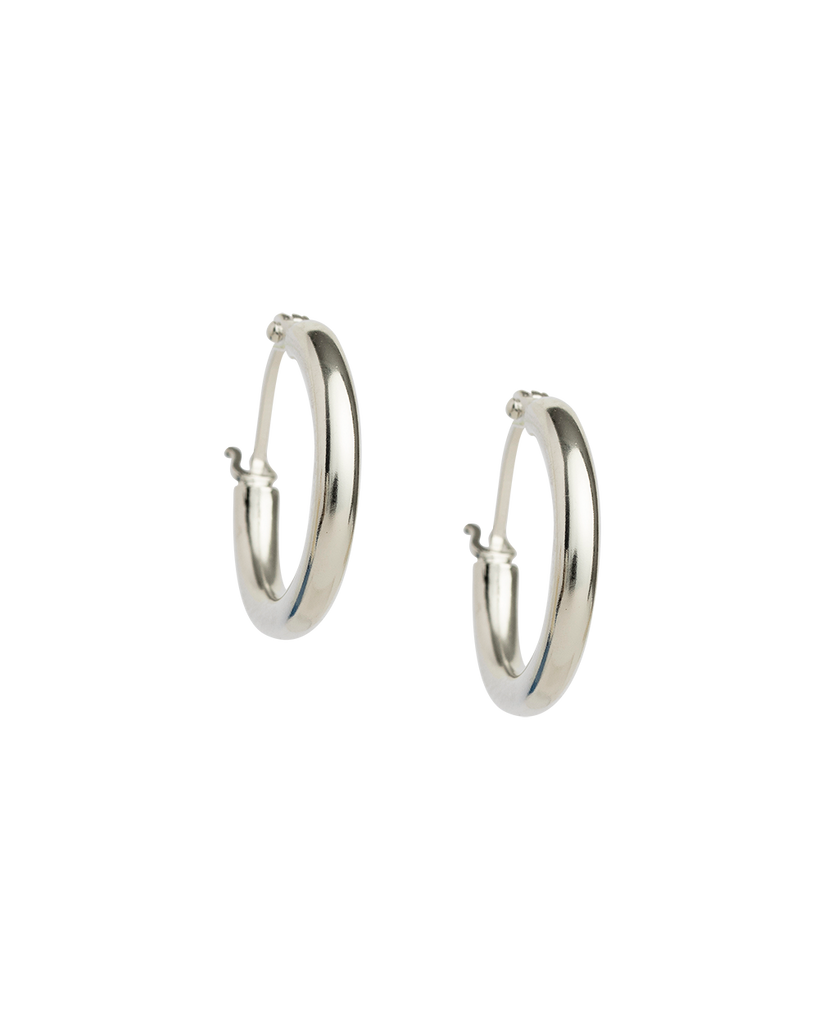 TIDAL HOOPS SMALL (STERLING SILVER)