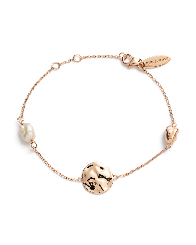 TIDAL PEARL BRACELET (18K-ROSE GOLD-PLATED)