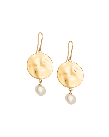 TIDAL PEARL EARRINGS (18K-GOLD-PLATED)