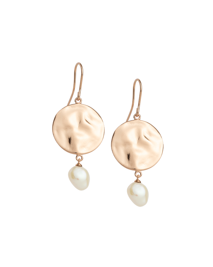 TIDAL PEARL EARRINGS (18K-ROSE GOLD-PLATED)