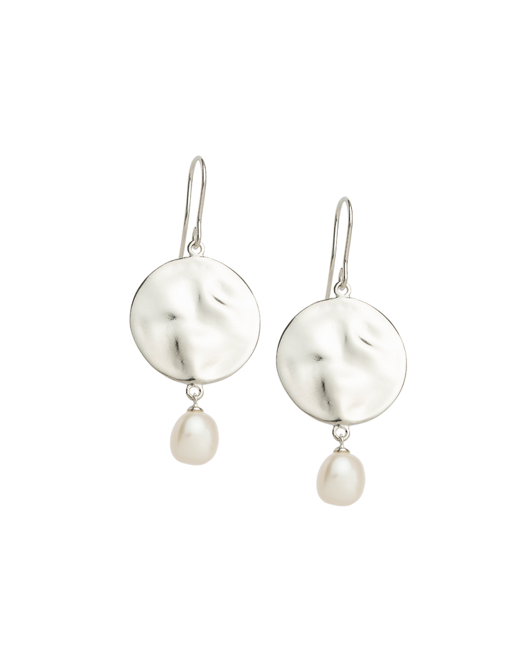 TIDAL PEARL EARRINGS (STERLING SILVER)