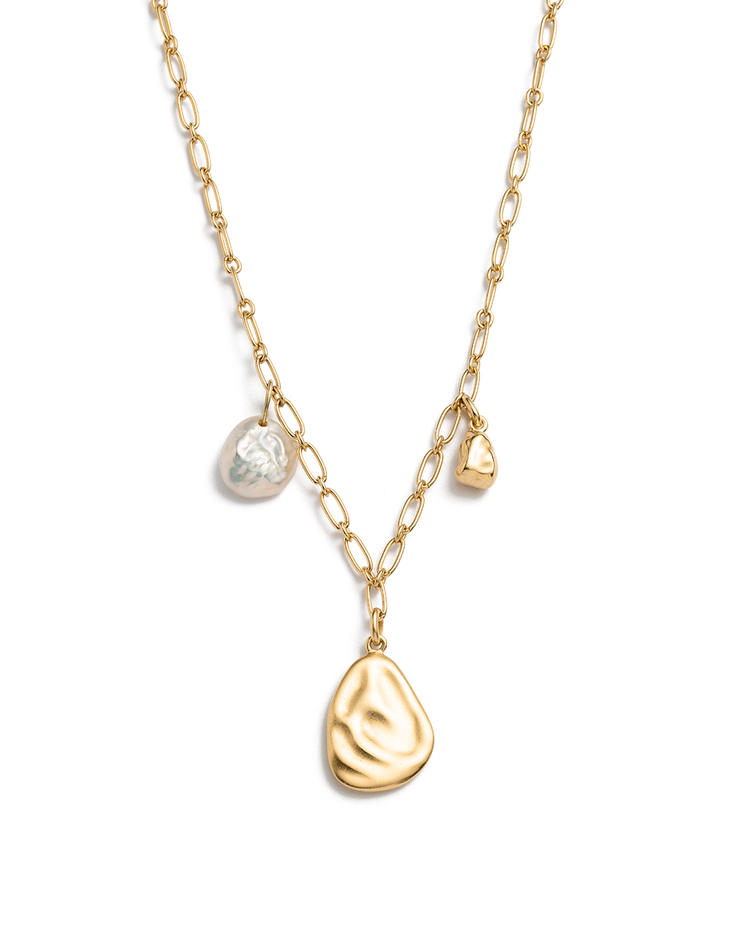 TIDAL PEARL NECKLACE (18K-GOLD-PLATED)