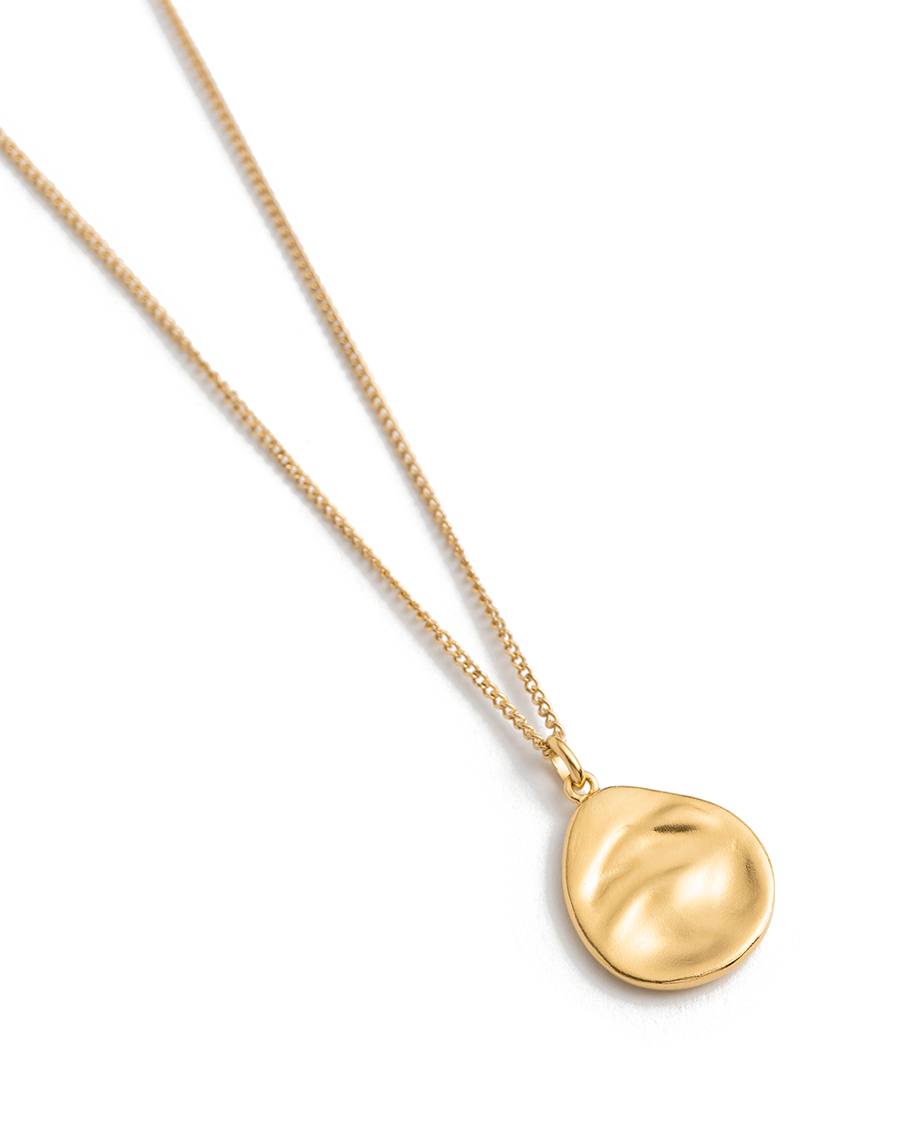 TIDAL TEARDROP NECKLACE (18K-GOLD-VERMEIL) 02