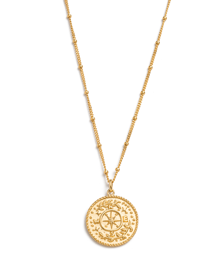 TREASURE COIN NECKLACE (18K-GOLD-VERMEIL)