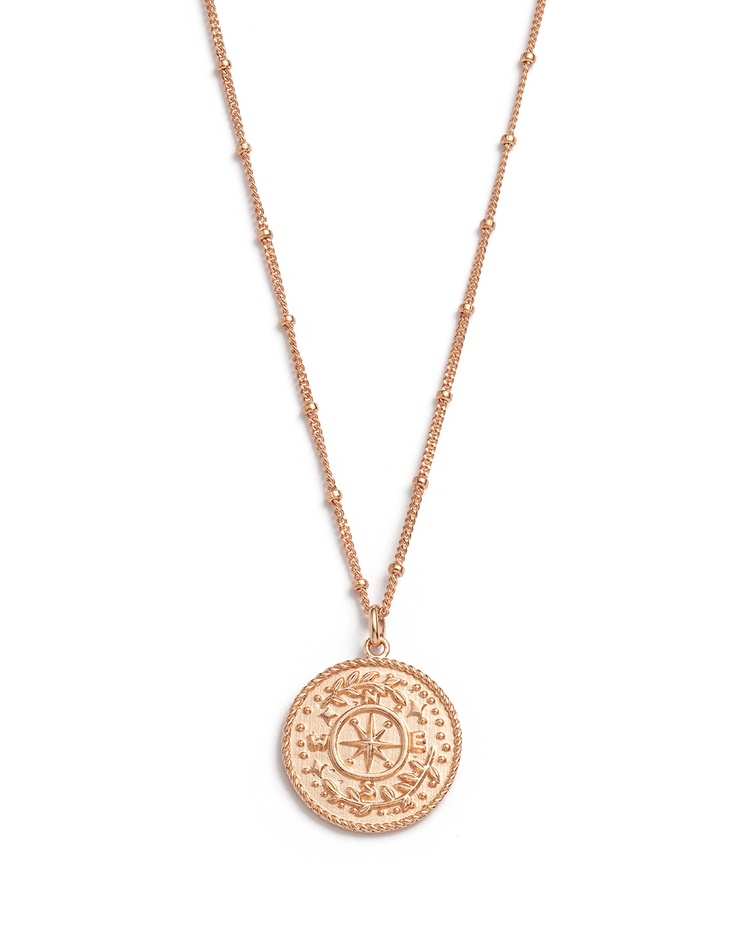 TREASURE COIN NECKLACE (18K-ROSE GOLD-VERMEIL)