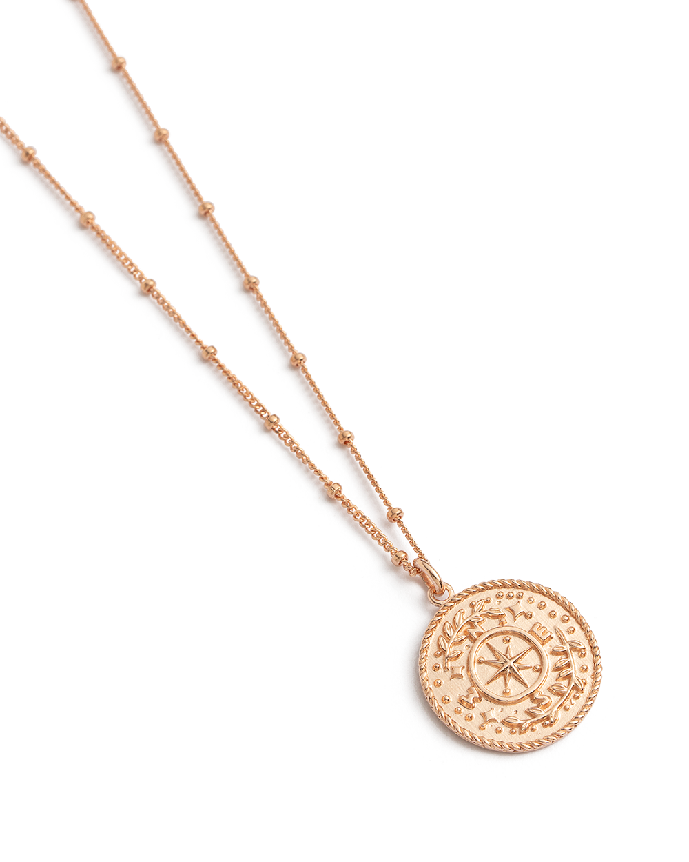 TREASURE COIN NECKLACE (18K-ROSE GOLD-VERMEIL) 02