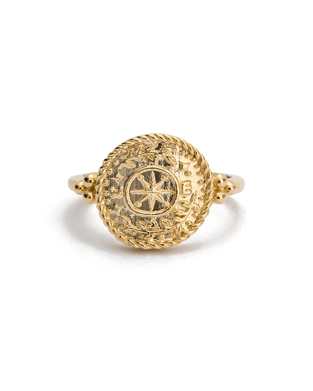 TREASURE COIN RING (18K-GOLD-VERMEIL)