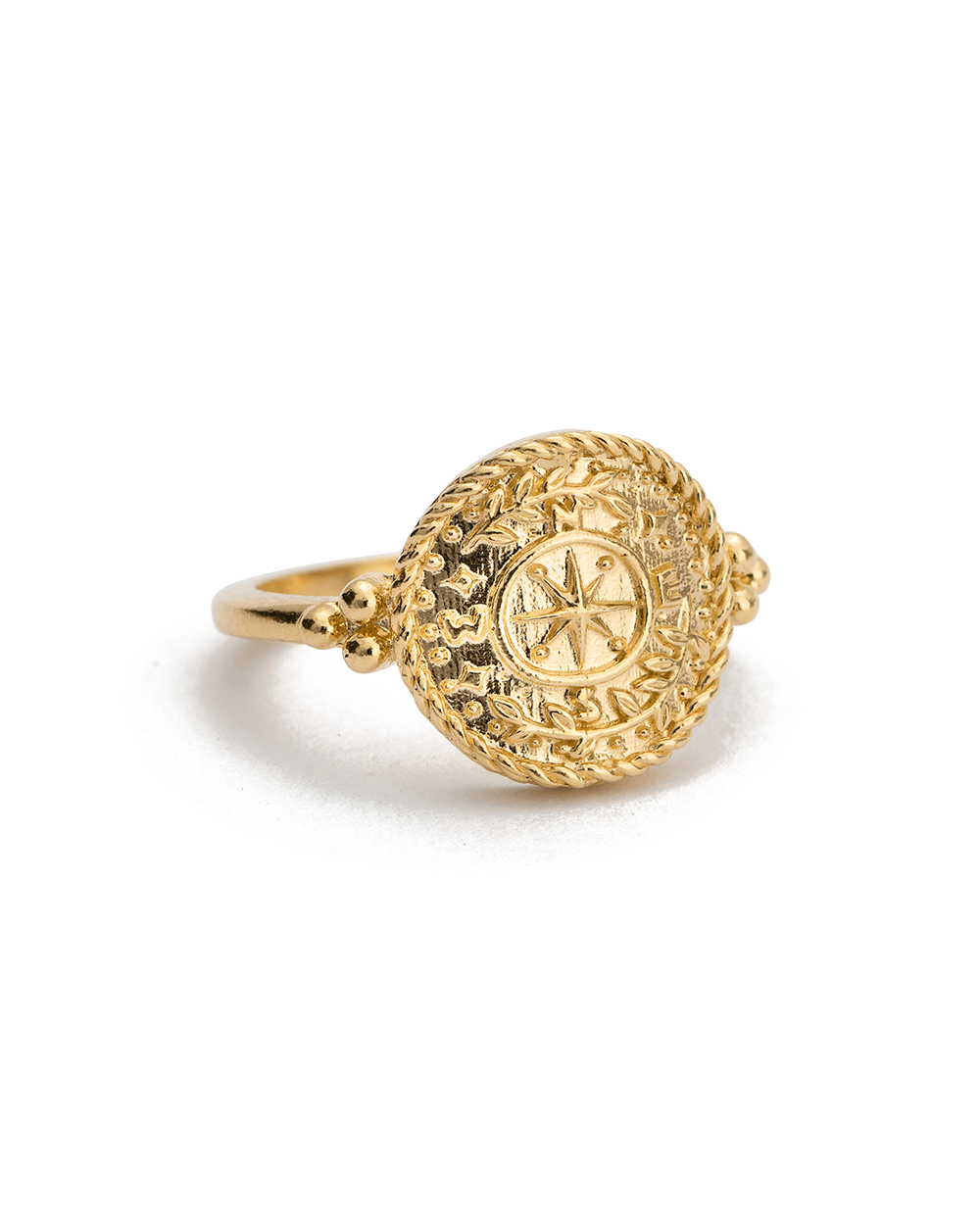 TREASURE COIN RING (18K-GOLD-VERMEIL) - 02