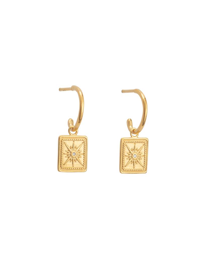 TRUE NORTH HOOPS (18K-GOLD-PLATED)-FRONT