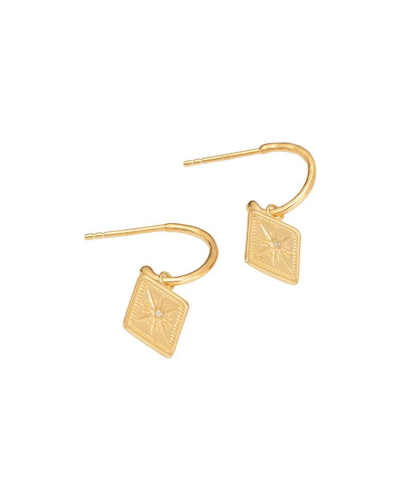 TRUE NORTH HOOPS (18K-GOLD-PLATED)-SIDE
