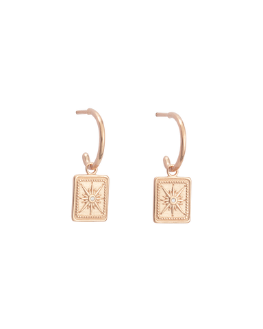 TRUE NORTH HOOPS (18K-ROSE GOLD-PLATED)-FRONT