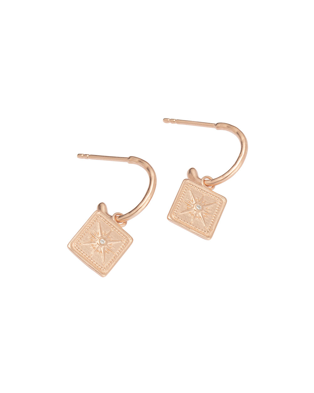 TRUE NORTH HOOPS (18K-ROSE GOLD-PLATED)-SIDE