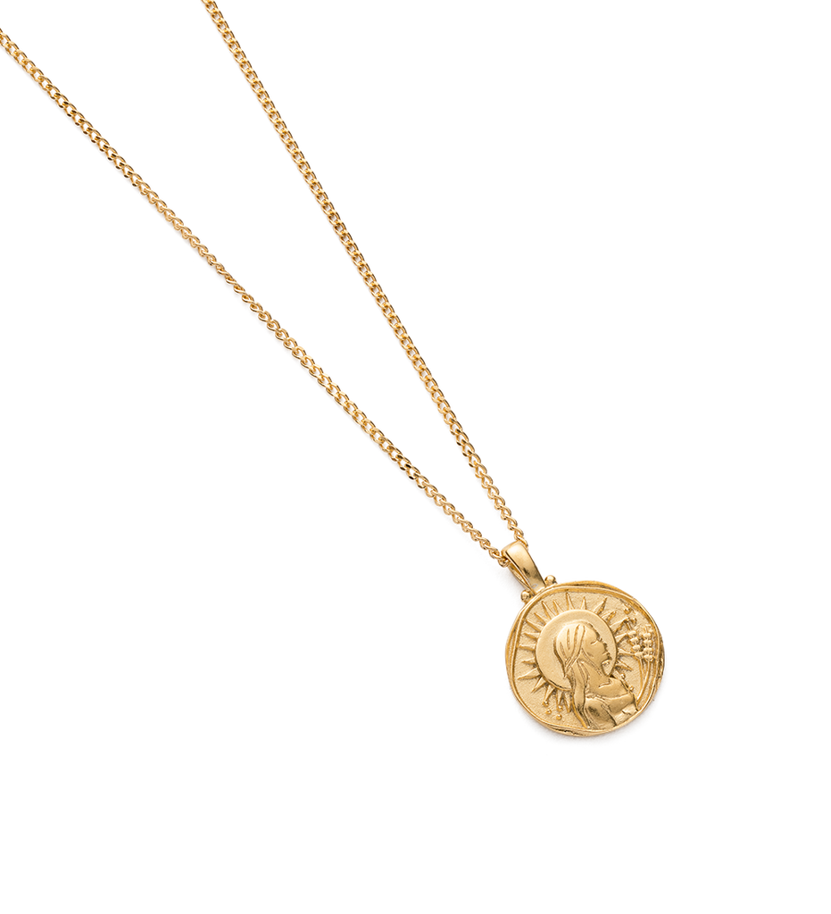 VIRGO ZODIAC NECKLACE (18K-GOLD-VERMEIL) - Image 2