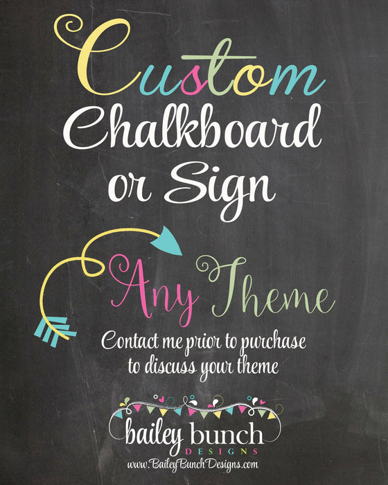Any Age Custom Adult Birthday Chalkboard, Back in Chalkboard YRS0520