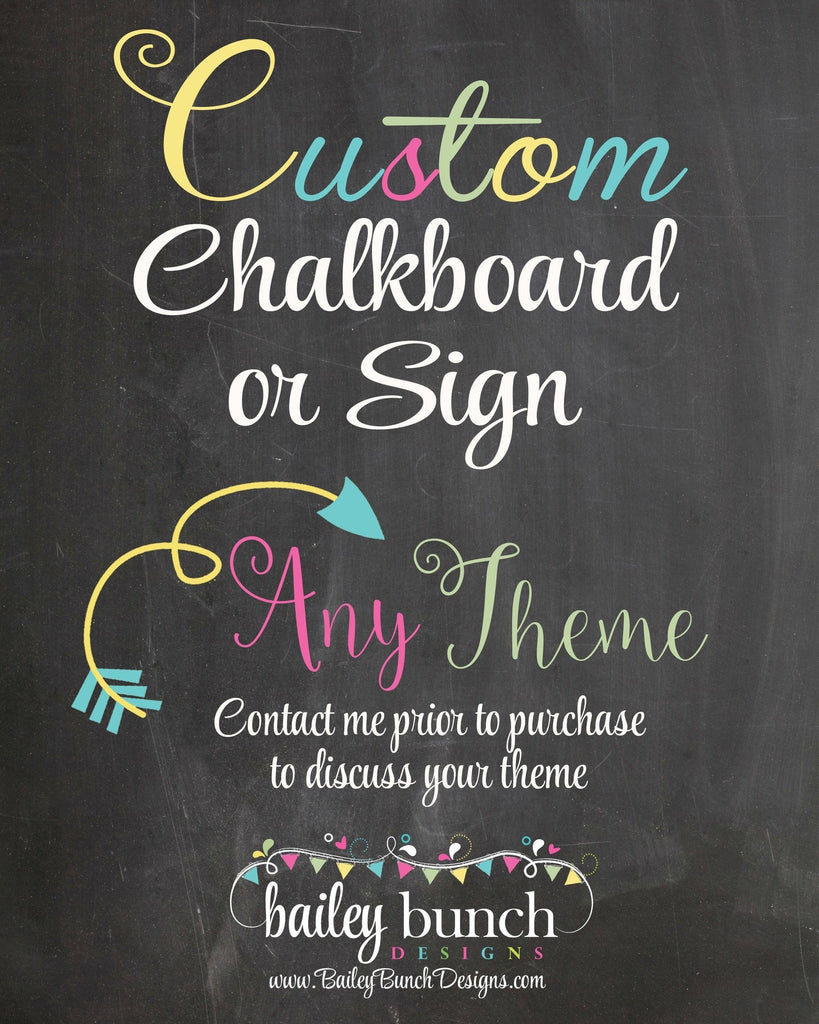 Any Age Custom Adult PHOTO Birthday Chalkboard, Back in Chalkboard YRSPHOTO0520