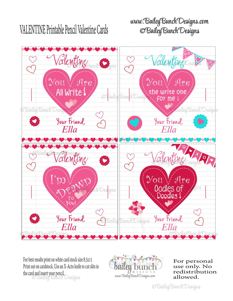 Pencil Valentines, You are All Write Valentines VDAYPENCIL0520