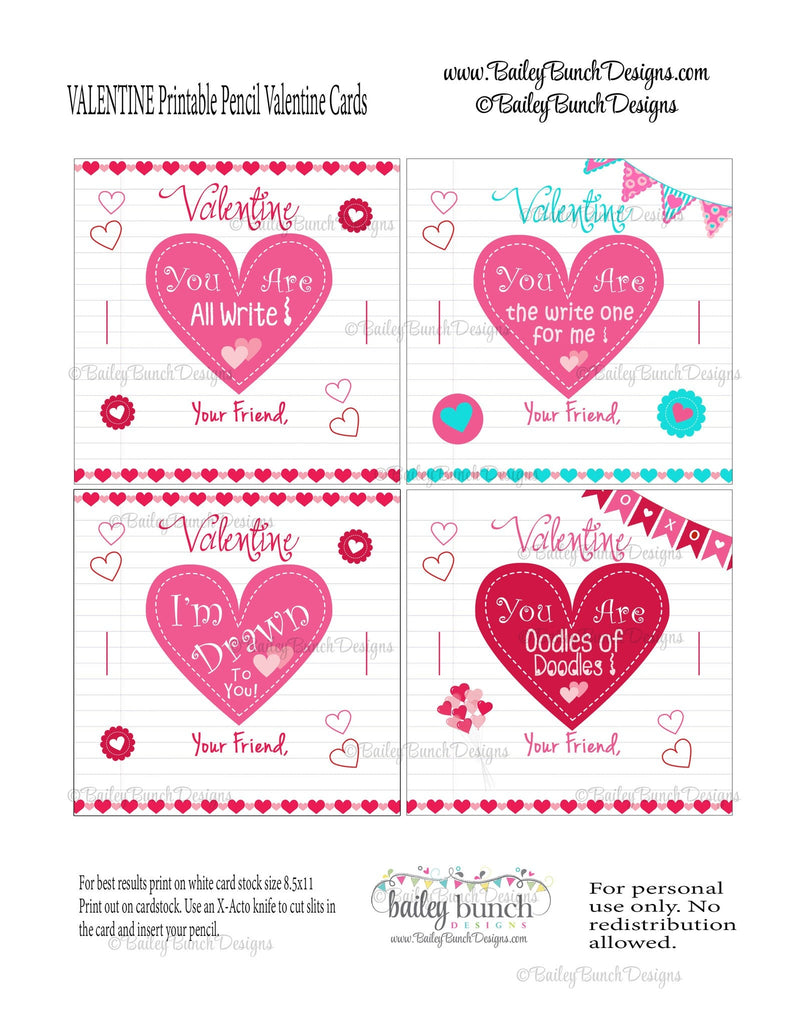 Pencil Valentines, You are All Write Valentines IDVDAYPENCIL0520