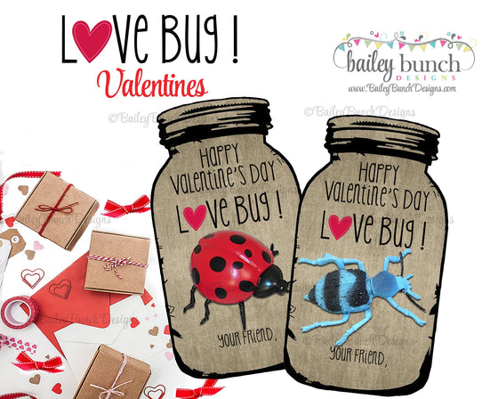 Love Bug Valentine Treat Tags, Valentines IDVDAYBUG0520