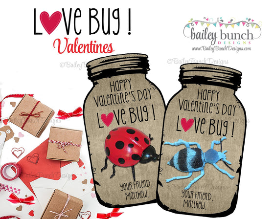 Love Bug Valentine Treat Tags, Valentines VDAYBUG0520