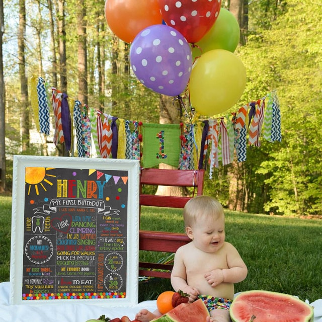 Caterpillar Inspired Birthday Chalkboard, CATERPILLARCHALK0520