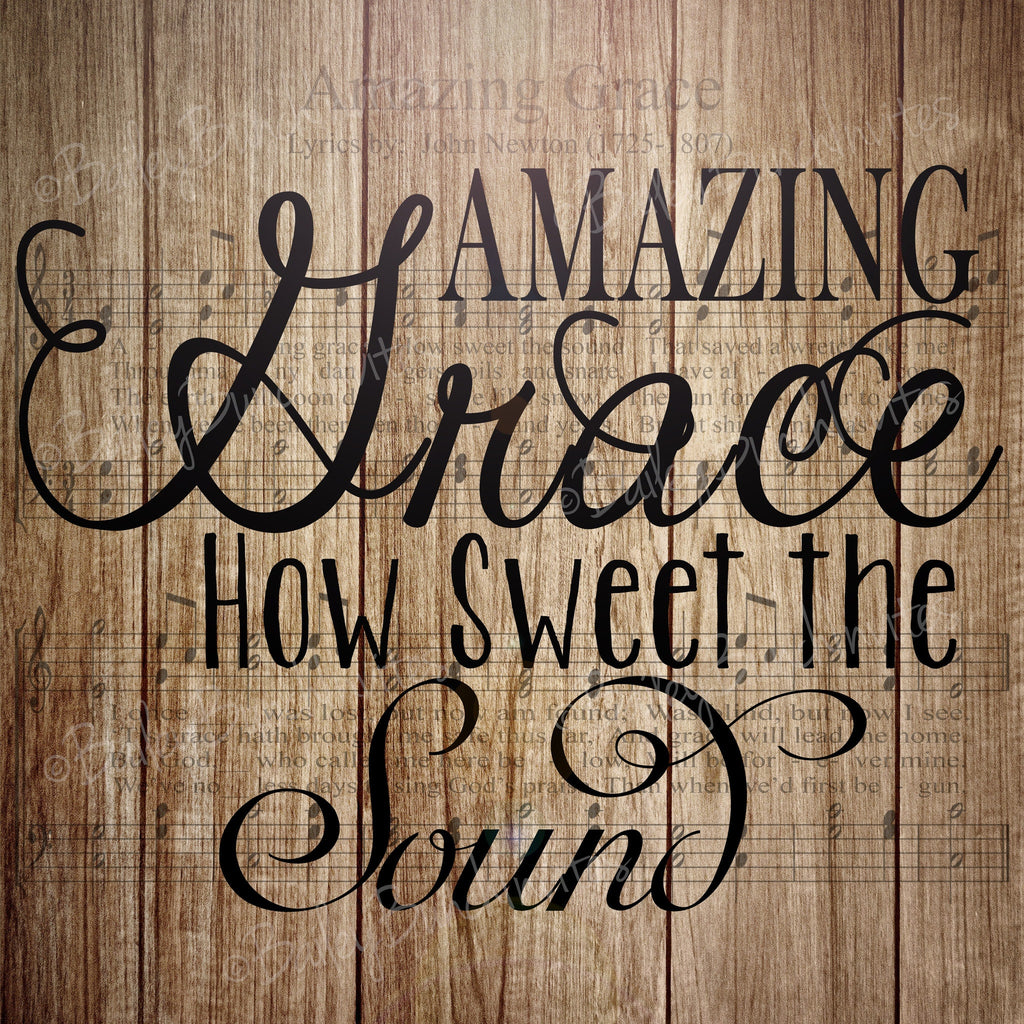 Wall Art, Amazing Grace, Home Decor - INSTANT DOWNLOAD IDAMZGRACE0520