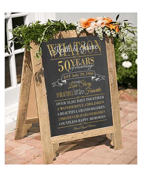 Our love story, Wedding sign, Anniversary Chalkboard ANNIVCHALK0520