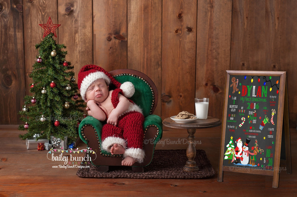 Baby's 1st Christmas Chalkboard Sign, 2nd Christmas, 3rd Christmas 1STCHRISTCHALK0520