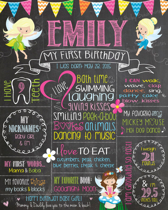 Fairy Princess Birthday Chalkboard, FAIRYCHALK0520