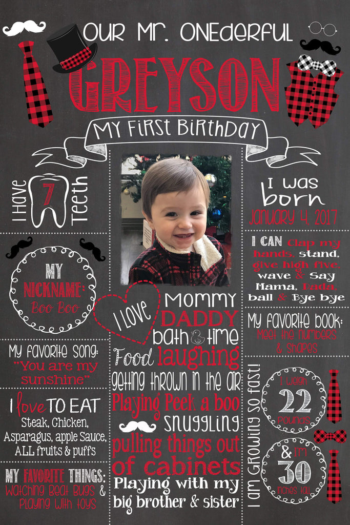 Birthday Photo Sign, Mr. ONEderful Birthday Chalkboard, Poster Bow Ties, Bowtie, Little Man, LITTLEMANCHALK0520