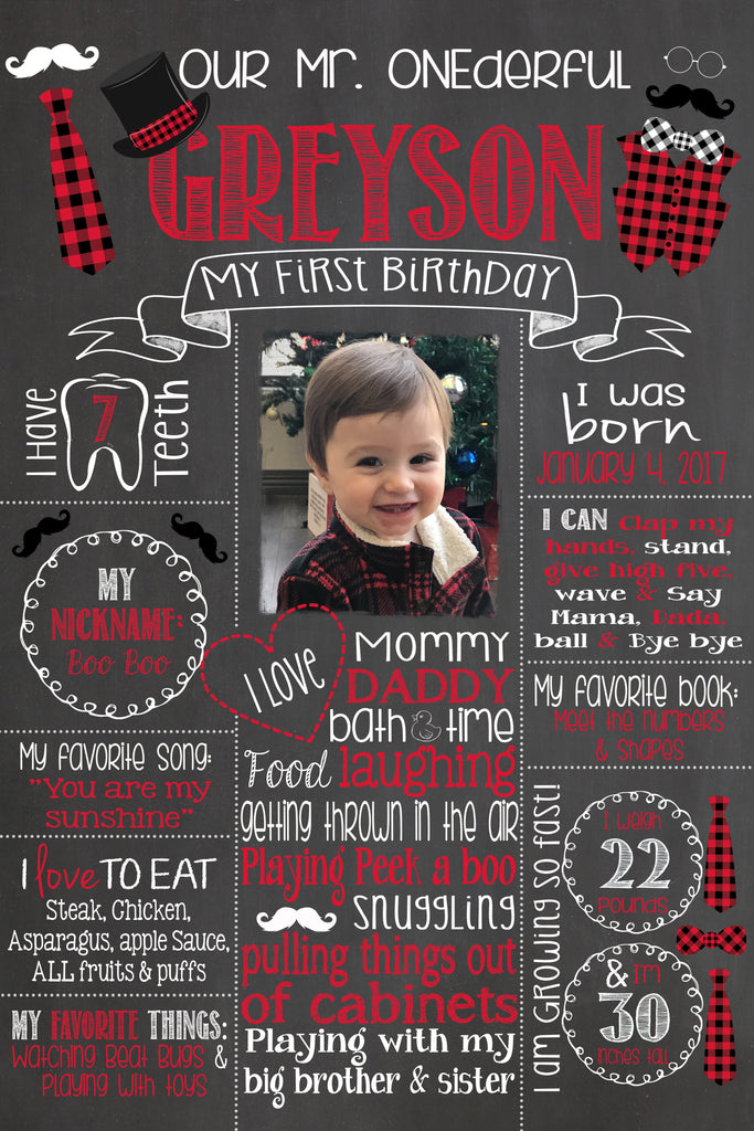 Birthday Sign, Mr. ONEderful Birthday Chalkboard, Bow Ties, Bowtie, Little Man, LITTLEMANCHALK0520