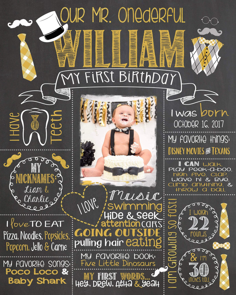 Birthday Photo Sign, Mr. ONEderful Birthday Chalkboard, Bow Ties, Bowtie, Little Man, LITTLEMANCHALK0520