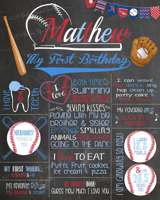 Baseball Birthday Chalkboard, BBALLCHALK0520