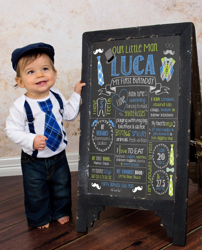 Birthday Sign, Mr. ONEderful Birthday Chalkboard, Poster Bow Ties, Bowtie, Little Man, LITTLEMANCHALK0520