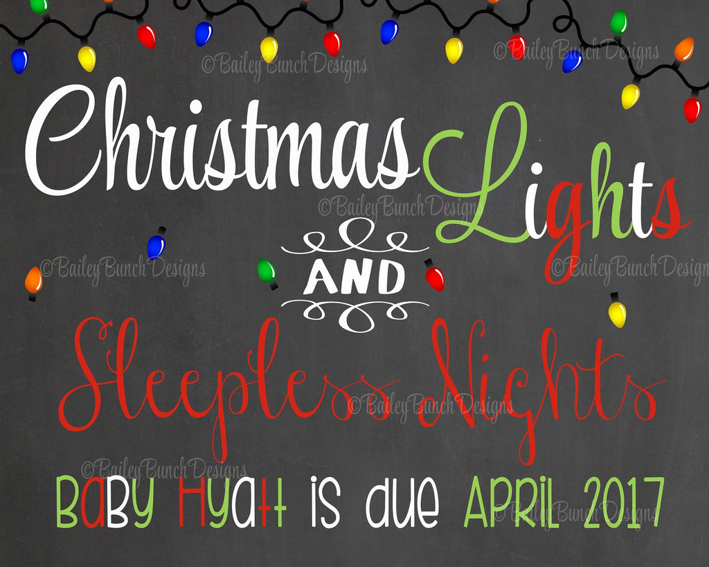 Pregnancy Reveal Announcement Chalkboard Sign, Christmas Pregnancy LIGHTSTP0520
