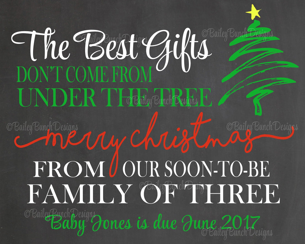 Pregnancy Reveal Announcement Chalkboard Sign, Christmas Pregnancy GIFTSP0520