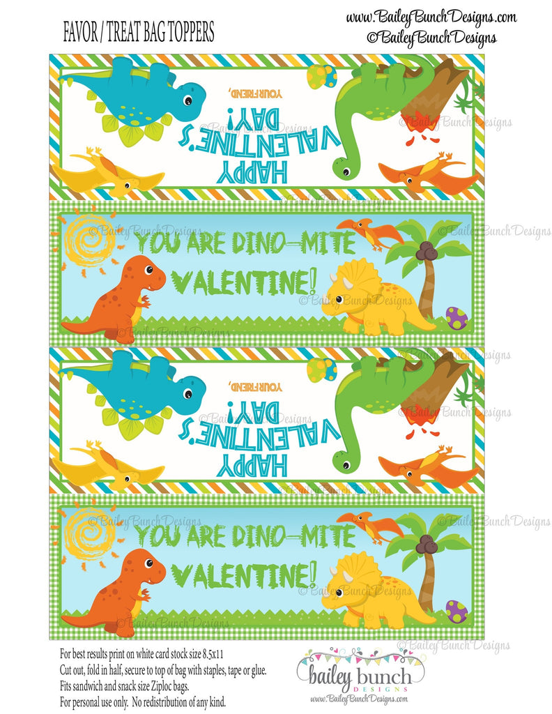 You are Dino-Mite Dinosaur Treat Bag Toppers, Valentines IDVDAYDINO0520