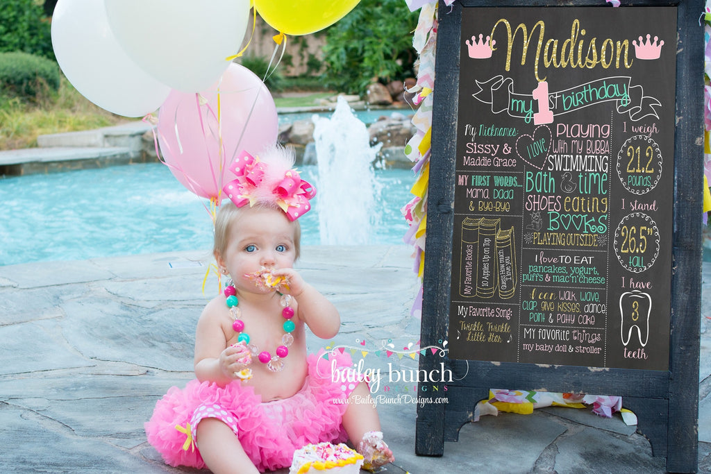 Princess Birthday Chalkboard, CROWNCHALK0520