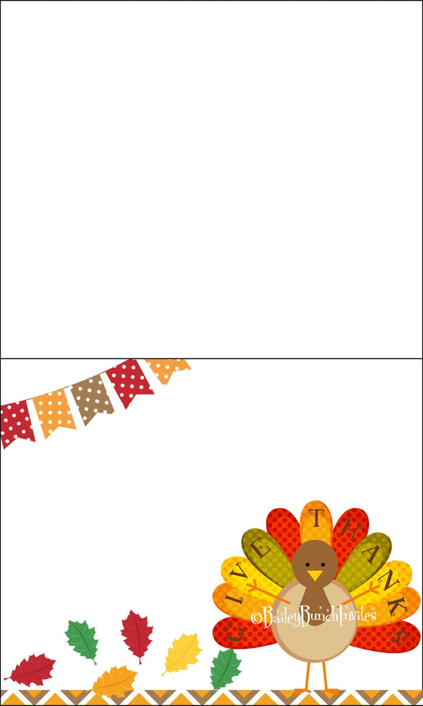 Thanksgiving Turkey Holiday Food Tents, Place Cards, Food Labels INSTANT DOWNLOAD IDTHANKTENT0520