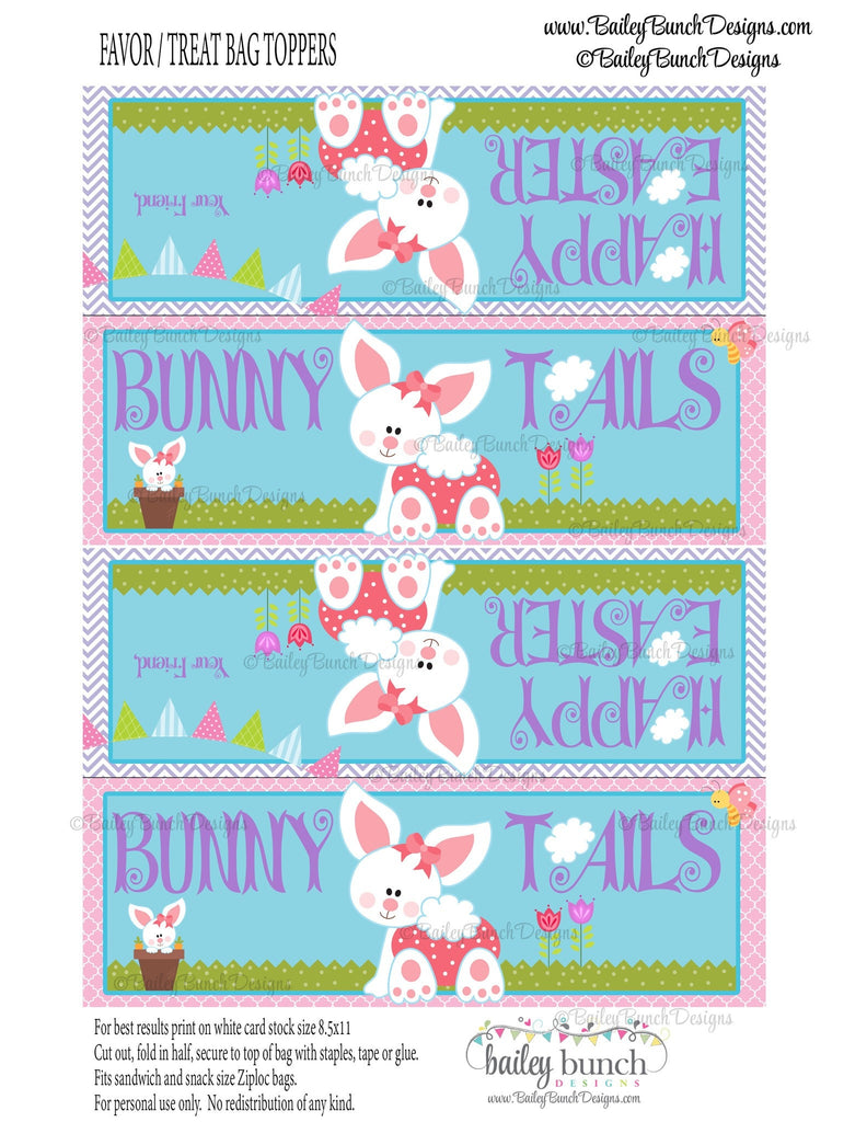 Easter Treat Toppers, Bunny Bunny Tails, IDBUNNYTAIL0520