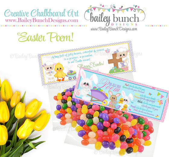 Easter Treat Toppers, Jelly Bean Poem, IDJELLYBEAN0520