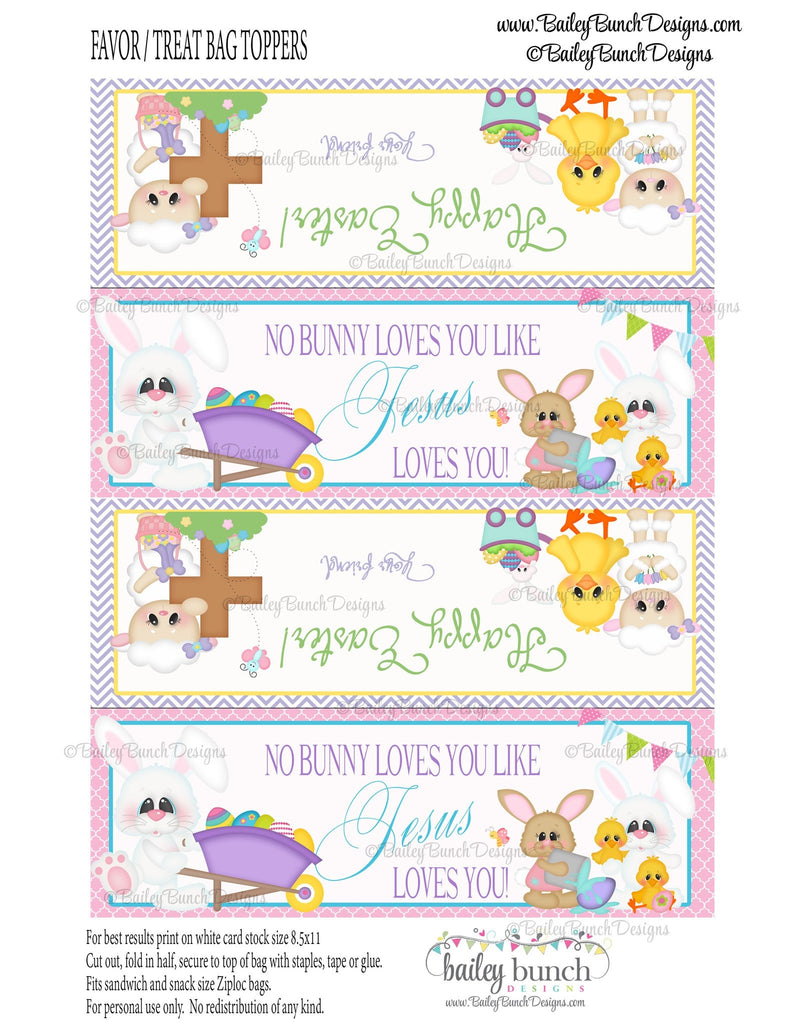 Easter Treat Toppers, Jesus Loves You, IDJESUS0520