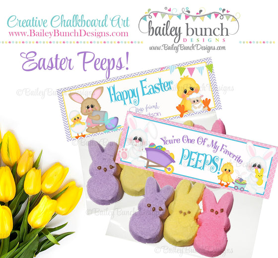 Easter Treat Toppers, Favorite Peeps, PEEPS0520