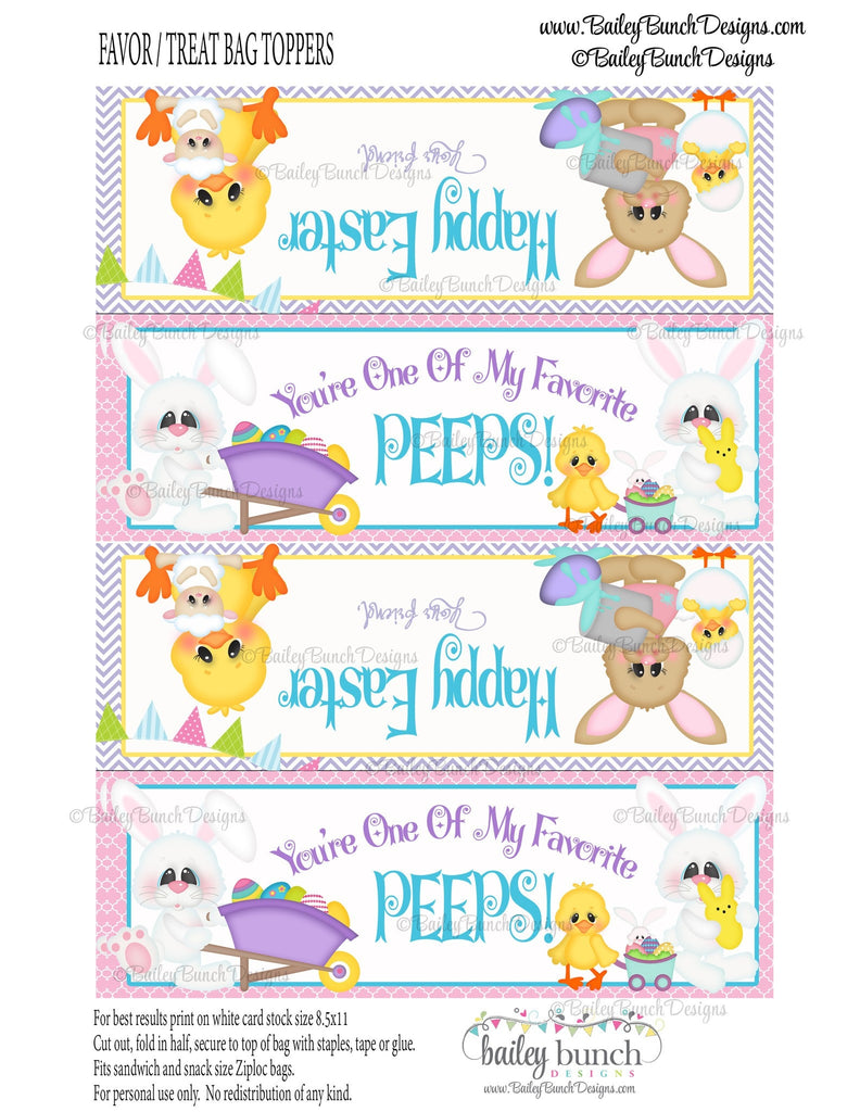 Easter Treat Toppers, Favorite Peeps, IDPEEPS0520