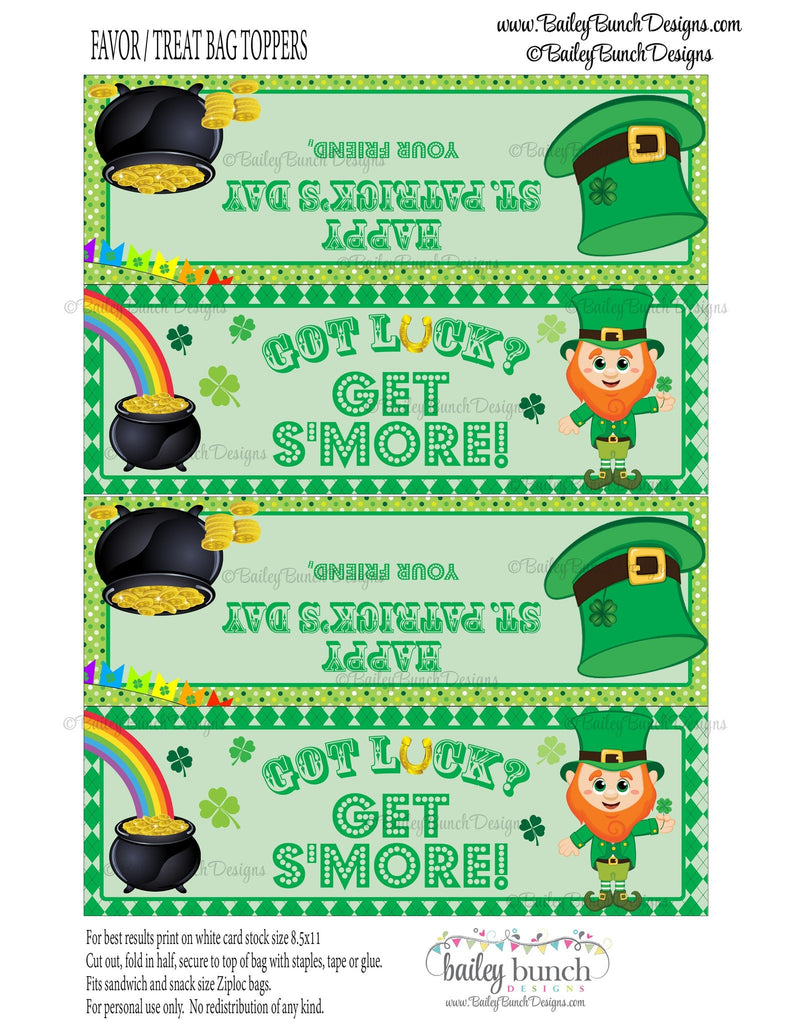 Got Luck? Get S'more St. Patrick's Day Treat Tags, IDSMOREPATRICK0520