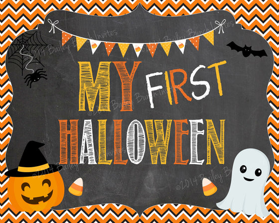 Baby's 1st Halloween Chalkboard Sign - INSTANT DOWNLOAD ID1STHALLCHALK0520