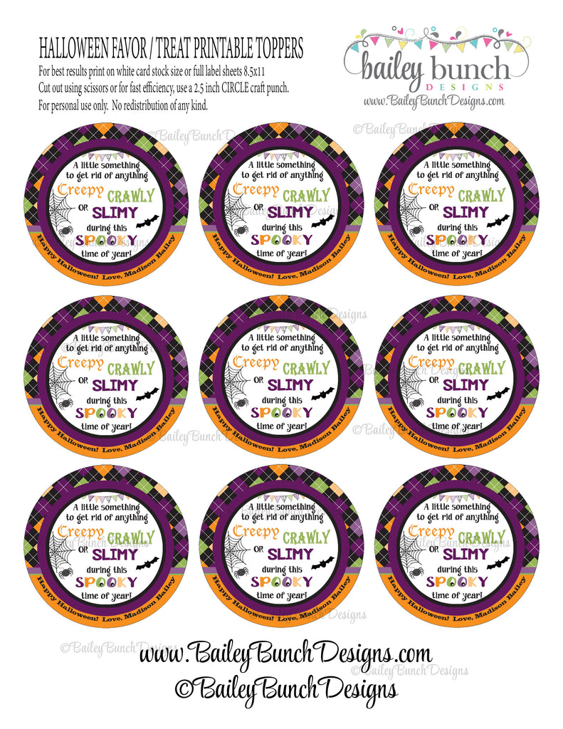 Halloween Spooky Soap Tags, Soap Labels, BOOSOAP0520