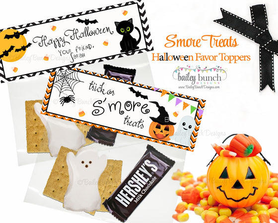 Halloween Smores Favor Toppers, BOOSMOREFVR0520