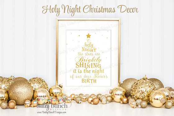 Holy Night Wall Art, Christmas, Home Decor - INSTANT DOWNLOAD IDHOLY0520
